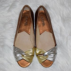 Micheal Kors Open Toe Flats